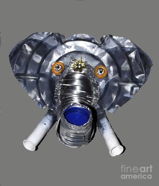 Mixed Media - Elephant Mask by Bill Thomson