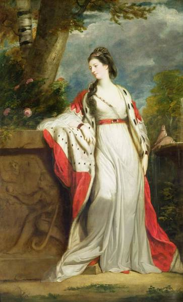 Ermine Wall Art - Painting - Elizabeth Gunning - Duchess Of Hamilton And Duchess Of Argyll by Sir Joshua Reynolds