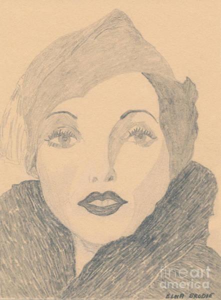 Drawing - Elizabeth Taylor by Donna L Munro