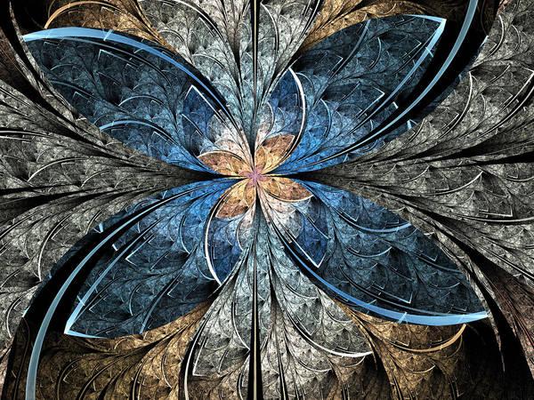 Wall Art - Digital Art - Elliptic Butterfly by Pam Blackstone