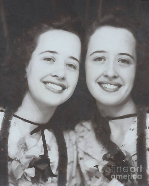Photograph - Elna And Her Twin At The Stampede by Donna L Munro