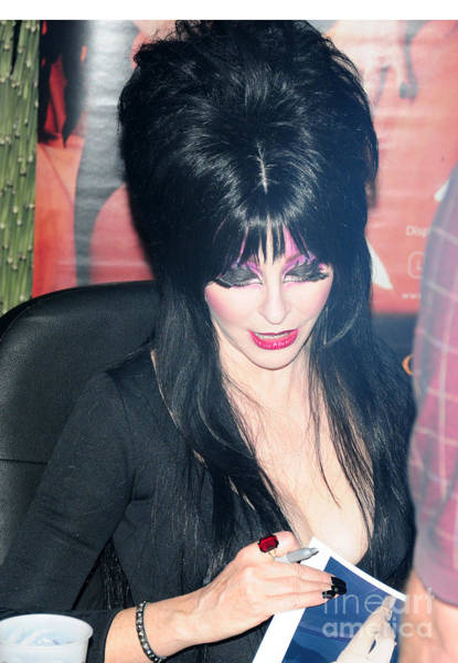 Mistress Photograph - Elvira - Mistress Of The Dark by Paul Ward