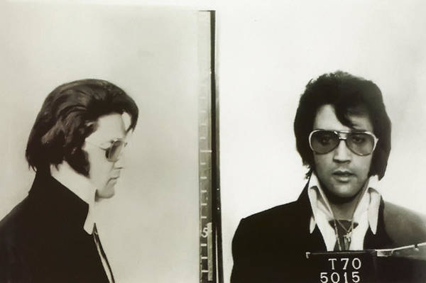 Wall Art - Photograph - Elvis Mugshot 1970 by Digital Reproductions