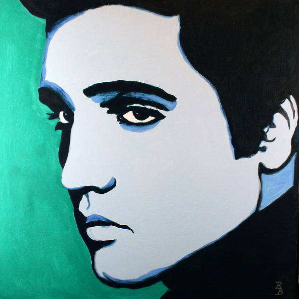 Painting - Elvis Presley - Blue Green by Bob Baker