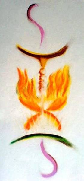 Painting - embracing the Divine Fire by Ahonu