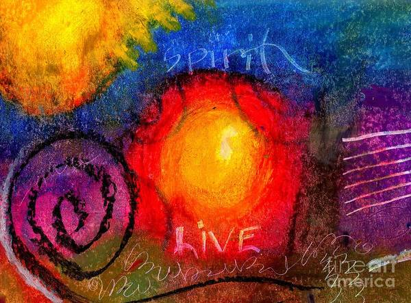 Wall Art - Painting - Embracing The Spirit To Live Life Fully by Angela L Walker