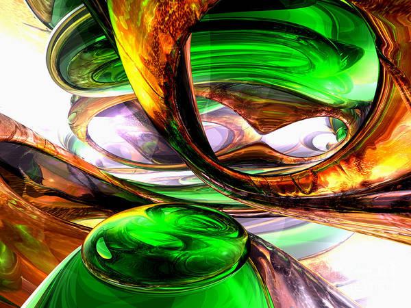 Wall Art - Digital Art - Emerald City Abstract by Alexander Butler