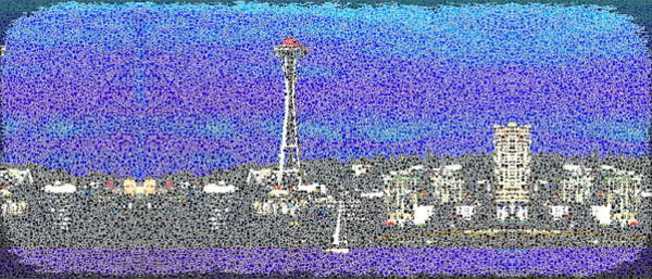 Elliott Digital Art - Emerald City Sailing by Tim Allen