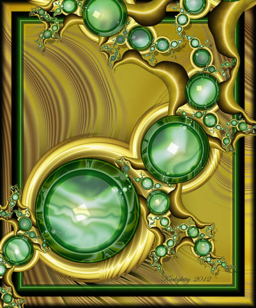 Digital Art - Emerald Gloss by Karla White