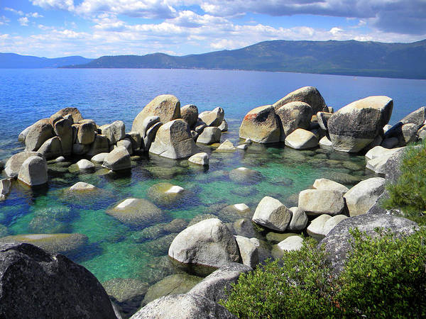 Photograph - Emerald Waters Lake Tahoe by Frank Wilson