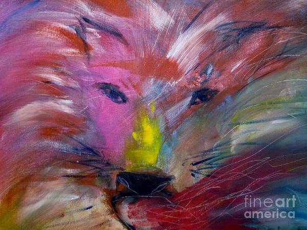 Painting - Emerging Lion by Deborah Nell
