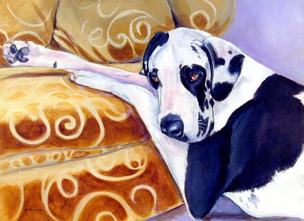 Great Dane Painting - Emery The Great Dane by Lyn Cook