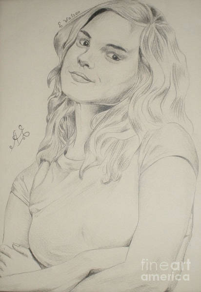 Rupert Grint Wall Art - Drawing - Emma Watson by Armen Egoryan