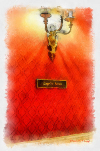 Photograph - Empire Room by Paulette B Wright
