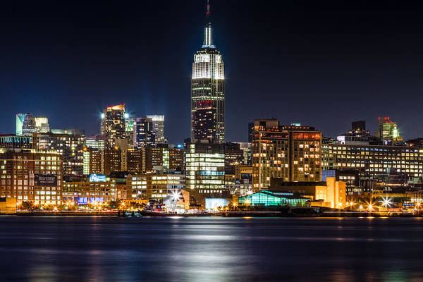 Photograph - Empire State Building From Hoboken by Val Black Russian Tourchin