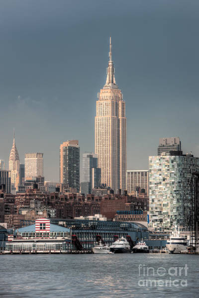 Photograph - Empire State Building Post Thunderstorm I by Clarence Holmes