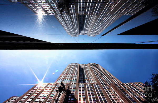 Unusual Perspective Wall Art - Photograph - Empire State Building Reflections by Nishanth Gopinathan