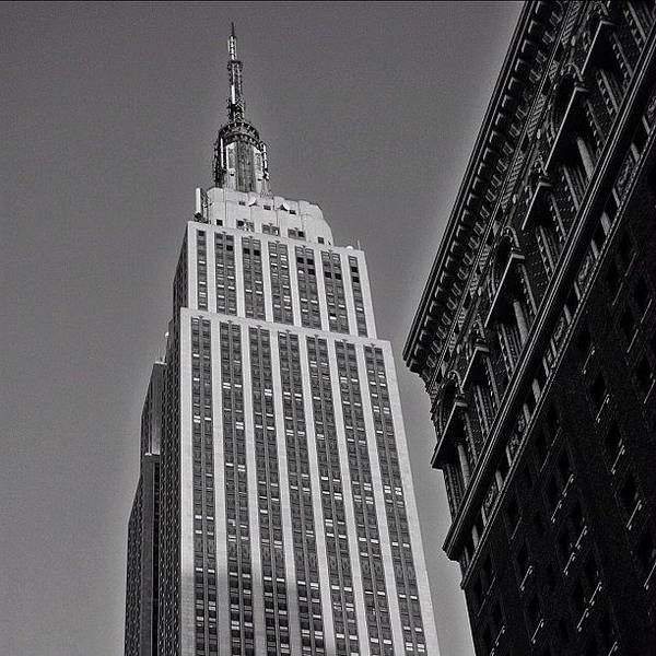 Skyscraper Photograph - #empirestate #empire #usa #newyorker by Joel Lopez