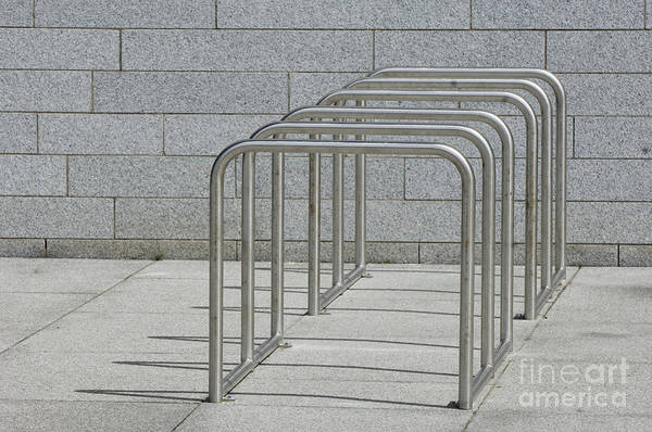 Bicycle Rack Photograph - Empty Bicycle Rack by Iain Sarjeant