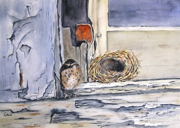 Empty Nest Wall Art - Painting - Empty Nest by Patricia Pushaw