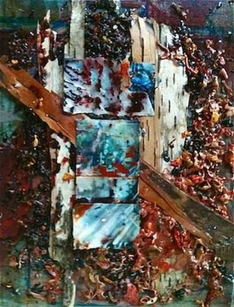 Mixed Media - Encaustic Bark Collage by Holly Suzanne