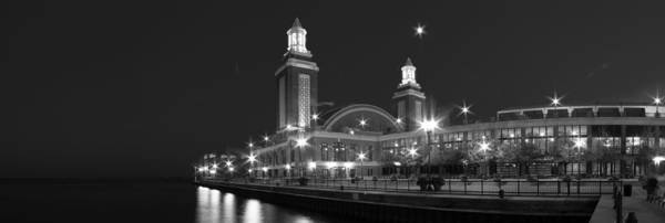 Chicago Skyline Photograph - End Of Navy Pier In Black And White by Twenty Two North Photography