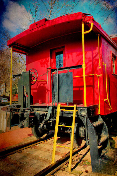 Red Caboose Photograph - End Of The Line by Steven Ainsworth