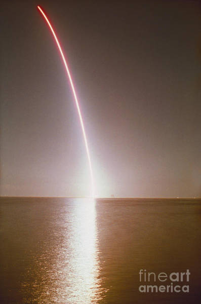 Photograph - Endeavor Lift-off by Erich Schrempp and Photo Researchers