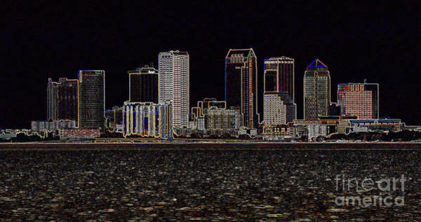 Photograph - Energized Tampa - Digital Art by Carol Groenen