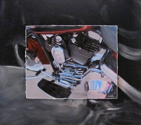Mixed Media - Engine Close Up by Anita Burgermeister
