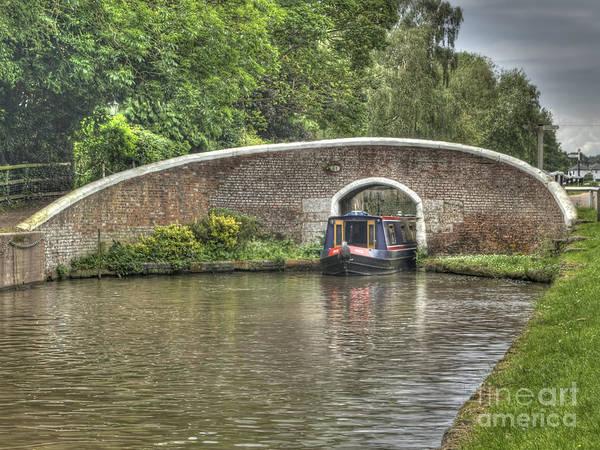Stamford Bridge Wall Art - Photograph - English Canal Scene by Steev Stamford
