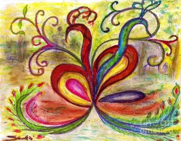 Entangled Painting - Entagled Love by Mary Sedici