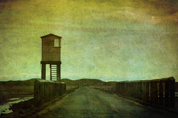 Sentry Box Photograph - Enter Holy Island by Peter Chadwick