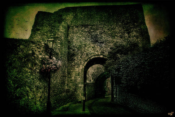 Digital Art - Entrance To Lewes Castle by Chris Lord