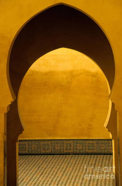 Wall Art - Photograph - Entrance To Moulay Ismail Mausoleum by Sami Sarkis