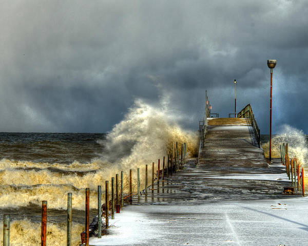 Photograph - Erie Storm by Richard Kopchock