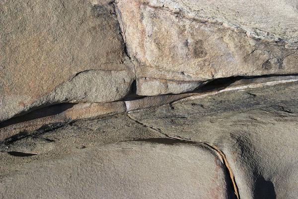 Photograph - Eroded Cracked Rock 2 by David Kleinsasser