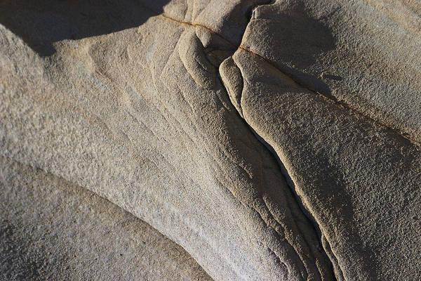 Photograph - Eroded Cracked Rock by David Kleinsasser