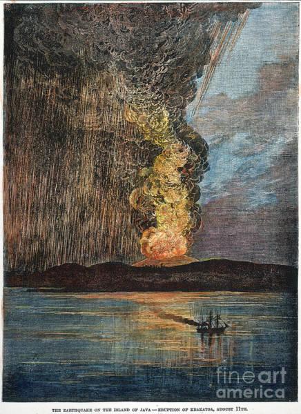 Photograph - Eruption Of Krakatau, 1883 by Granger