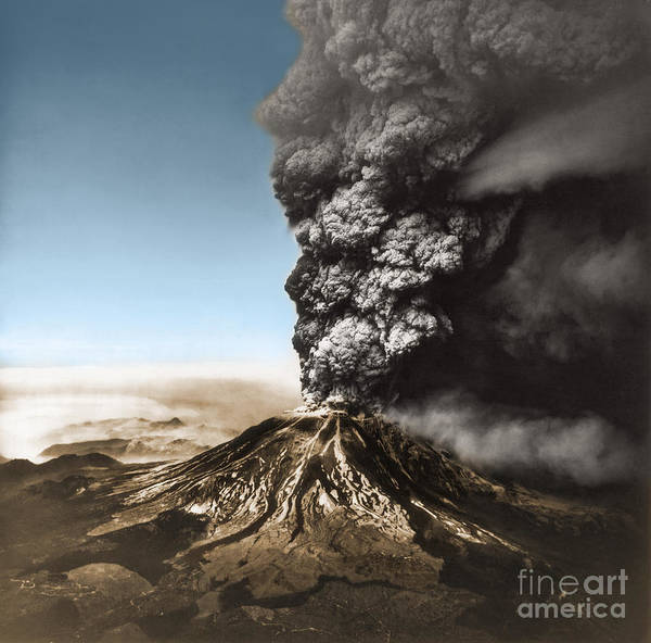 Photograph - Eruption Of Mount St. Helens by Science Source