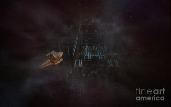Phantasy Digital Art - Escape In Space by Jan Willem Van Swigchem