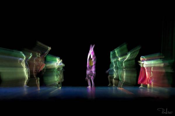 Escaping Dancers Art Print