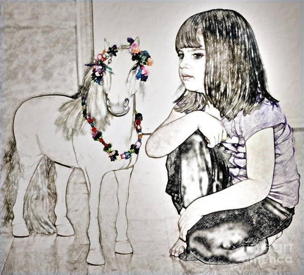 Girl And Horse Photograph - Escaping The Mundane by Gwyn Newcombe
