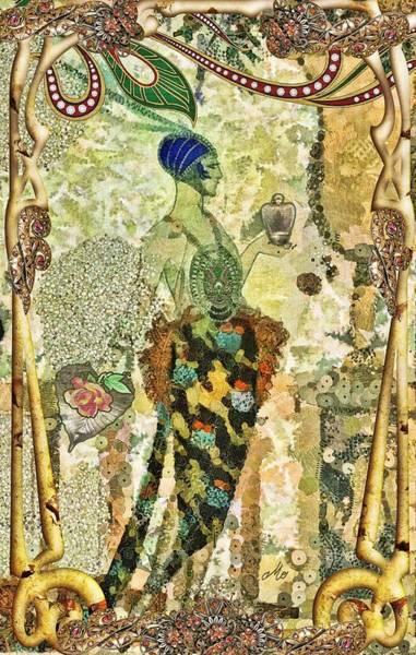 Wall Art - Mixed Media - Essence En Rose by Mo T