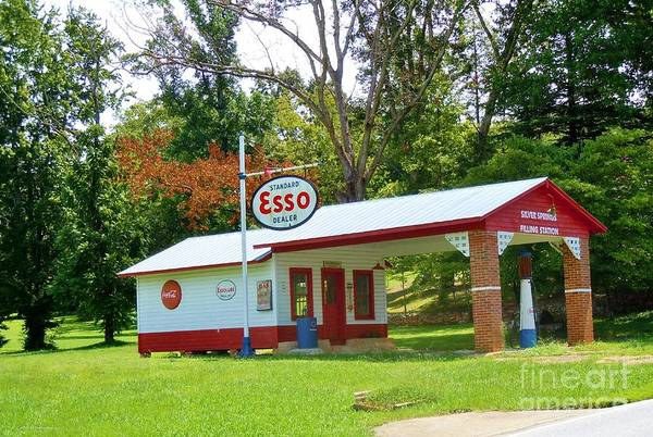 Wall Art - Photograph - Esso Station by Pauline Ross
