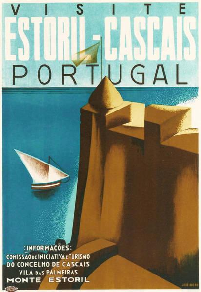 Lisbon Digital Art - Estoril Cassais by Georgia Fowler