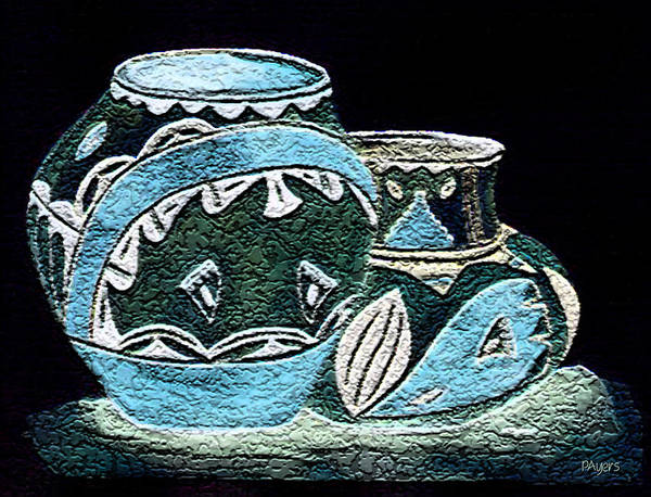Wall Art - Painting - Etched Pottery by Paula Ayers