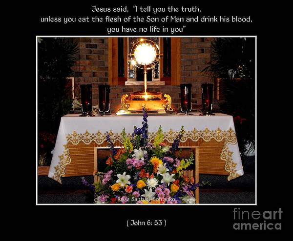 Photograph - Eucharist Unless You Eat The Flesh by Rose Santuci-Sofranko
