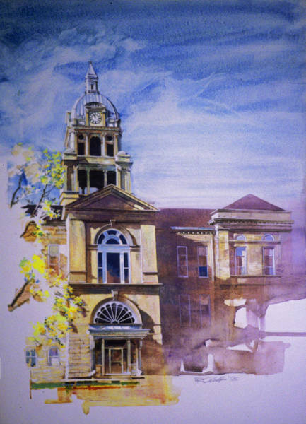 Eureka Painting - Eureka Courthouse by Rick Clubb