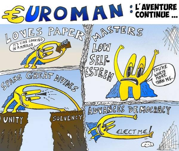 Ant Mixed Media - Euroman En Action by OptionsClick BlogArt